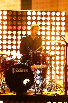 Adam on the drums! #TheVoice