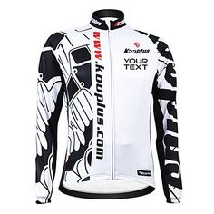 KOOPLUS Unisex Customized Black White Doodles Spring Autumn Long Sleeve Polyester Cycling Jersey , Font 4-Text Color 7 >>> More info could be found at the image url.
