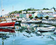 Ireland Painting - Cobh Harbour County Cork by Conor McGuire