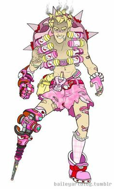 Hello Kitty Junkrat http://freelancerkiwi.tumblr.com/post/156925877669/baileyartblog-hello-kitty-skins-the-boys-the