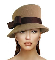 f3069151884d2 Soft As Cashmere Felt Bucket Cloche With Slant Crown- Q46