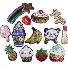 Nova chegada misturados 13 pcs popular lantejoulas patches bordados de ferro no cartoon Motif DK Applique acessório bordado(China (Mainland))