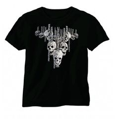 Hanging Out Wicked Skull Short Sleeve T-Shirt