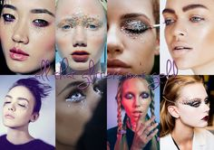 All That Glitters Isn't Gold - Different glitter-based eye looks.