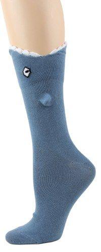 Blue Shark Bite 3-D Socks