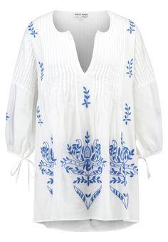 Juliet Dunn Strandaccessoire white/dark blue Premium bei Zalando.de | Material Oberstoff: 100% Baumwolle | Premium jetzt versandkostenfrei bei Zalando.de bestellen!