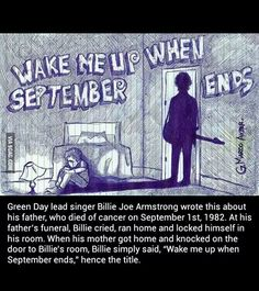 """Wake Me Up When September Ends - """"Green Day"""" lead singer Billie Joe Armstrong I Love Music, Music Is Life, Amazing Music, Emo Bands, Music Bands, My Chemical Romance, Music Lyrics, Music Quotes, Band Quotes"""