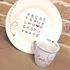 Made by me :) diy sharpie plates and mugs @NE Occasion