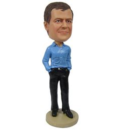 Male Posing with Business Casual Outfit by BobbleheadsEtsyShop, $64.00