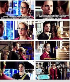 Oliver & Felicity: I LITERALLY SQUEALED at this part!! FINALLY!!! And then died a little inside at the end of the episode... :(