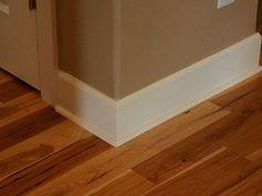 Floor Baseboard Trim  Baseboard Trim & Hickory Floor More