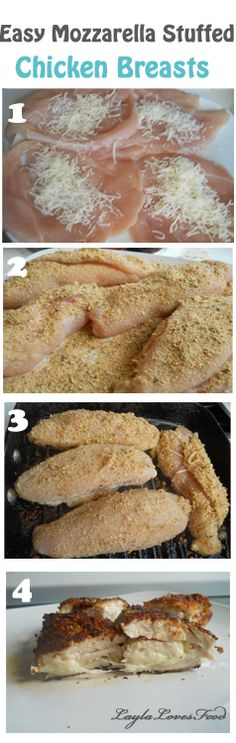 Easy Mozzarella Stuffed Chicken Breasts