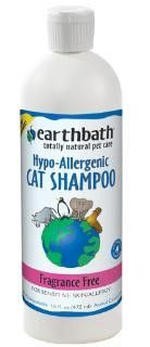 Earthbath Cat Shampoo, Fragrance Free Hypo-Allergenic, 16 oz. Earthbath Cat Shampoo, Fragrance Free Hypo-Allergenic, 16 oz