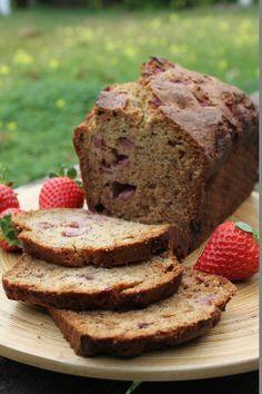 Pan de fresa y plátano - Banana strawberry bread