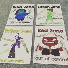 Resultado de imagen para inside out zones of regulation Elementary School Counseling, School Social Work, School Counselor, Elementary Schools, Zones Of Regulation, Emotional Regulation, Self Regulation, Social Emotional Learning, Social Skills