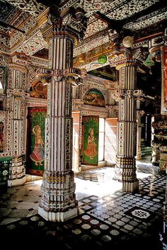 Jain temple - Bikaner.  Built with tons of ghee.  On very hot days the oil is said to seep through the stones.