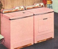 I die. (Lady Kenmore pink washer and dryer with AGH! copper trim)