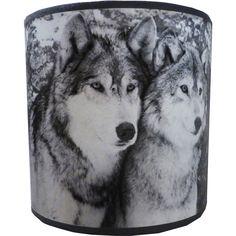 Abat-jour Husky noir et blanc #light #decoration #deco #interiordesign #mountains