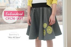 Make an Embroidered Circle Skirt or use stenciling