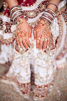Indian Wedding Jewelry #bangles #mehndi #henna