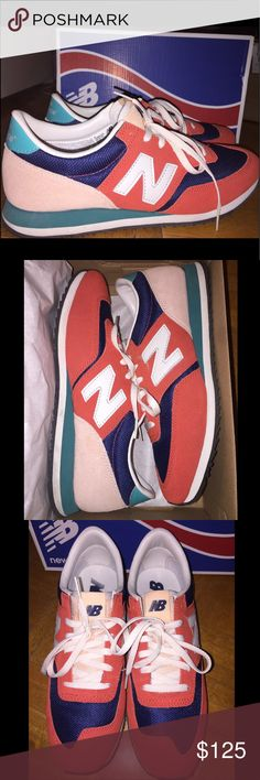 NIB New Balance Navy & Red Classic Sneakers Brand new New Balance sneakers with a beautiful color scheme! New Balance Shoes Sneakers