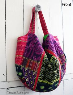 Boho Gypsy Patchwork Purse - over sized tote - free shipping within the US