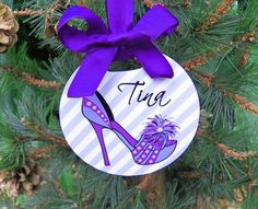 Personalized High Heel Shoe Ornament  Two Sided by ThatPartyChick, $15.00