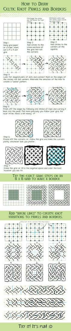 How to Draw Basic Celtic Knots by betsyillustration