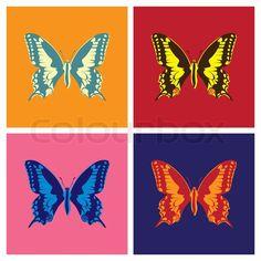 Butterfly pop art