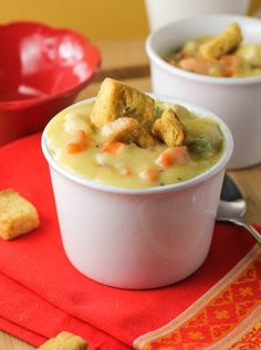 "Chicken Pot Pie Soup. I'll make heart shaped pie crust ""crackers"" with it. Perfect for fall!"