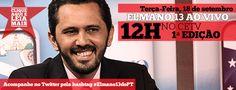 Elmano é o entrevista do CETV 1ª Edição, nesta terça (18), às 12h. Assista! #Elmano13doPT