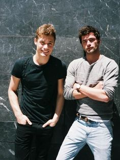 """seanoprysource: """"Sean O'Pry & Steven Chevrin in Madrid for the shooting of Massimo Dutti on June """" Best Friend Poses, Guy Best Friend, Guy Friends, Best Friend Pictures, Friend Poses Photography, Portrait Photography Men, Male Friendship, Friendship Photography, Beautiful Men Faces"""