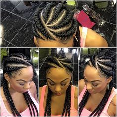 Ghana braids are growing in popularity and are a wonderful style. Check out these unique & hip styles of Ghana braids/Banana braids for your next braids hairdo! Ghana Braids Hairstyles, Braids Hairstyles Pictures, Braided Bun Hairstyles, Braids Wig, African Hairstyles, Hair Pictures, Cornrows Ponytail, Hairstyle Braid, Ghana Cornrows