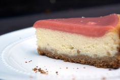 Cheesecake with Guava Sauce