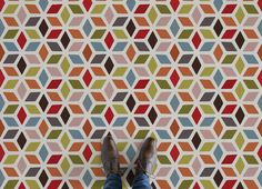 Colourful Retro Vinyl Flooring, leading Vinyl Flooring designed and manufactured by Atrafloor. Bring any design concept to life as Flooring. Ships Worldwide