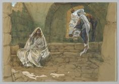 Jesus and the woman at the well - illustration by James Tissot