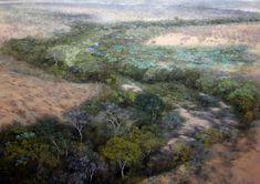 "Karin Daymond, Source, oil on canvas, 120 x 170cm. ""source"""