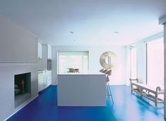 Hmm maybe a solid floor Blue Kitchen Floor by Elmslie Osler from Apartment Therapy New York by Regina Yunghans