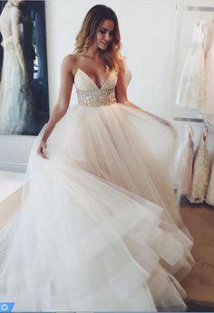 Chic Summer Tulle Wedding Dresses Garden Elegant Bridal