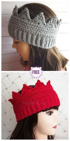 Crochet Crown Ear Warmer Free Crochet Pattern – All Sizes Crochet Crown Ear Warmer Kostenlose Häkelanleitung Crafting (Visited 2 times, 1 visits today) Beau Crochet, Pull Crochet, Crochet For Kids, Crochet Baby, Knit Crochet, How To Crochet, Crochet Headband Pattern, Crochet Beanie, Crochet Headbands