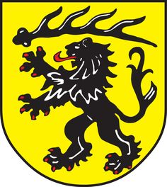 District of Göppingen (rural), Land: Baden-Württemberg, Germany #Göppingen #Germany (L16348) Family Crest, Deer Antlers, Ferrari Logo, Crests, 14th Century, Coat Of Arms, Superhero Logos, Germany, Symbols
