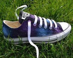 Hand painted Converse galaxy unique canvas shoes couple