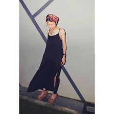 Pink hair, a #Monkistyle dress and summer nights. Just perfect.