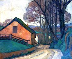 "paperimages: "" Robert Bevan, Near Hemyock, 1918 """