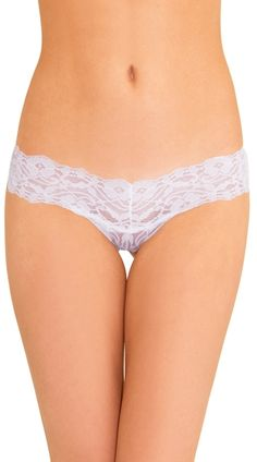 This sexy thong features an allover floral white lace with a thick waistband. White 4 Ever Thong, White Lace Thong, White Thong #panties #thongs #5for$20panties