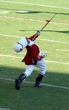 OU drum major before a football game