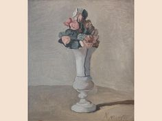 Giorgio Morandi «Flowers». Oil on canvas, 1950. Private Collection, Milan.