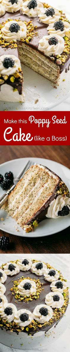 This poppy seed cake is fluffy and moist with a hint of rum and it's not overly…