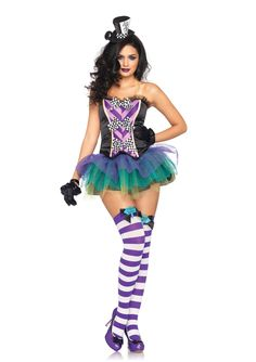 We're all mad here! Our Tempting Mad Hatter is the sexiest hatter in Wonderland! #legavenue #costume #wonderland #madhatter