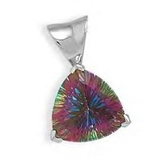 Gorgeous multicolored mystic topaz pendant is long including bail. Stone is approximately wide and set in highly polished sterling silver basket setting to maximize brillance and color play of the stone. Wholesale Silver Jewelry, Mystic Topaz, Summer Accessories, Silver Stars, Vibrant Colors, Colorful, Sterling Silver Chains, Custom Jewelry, Jewelry Gifts